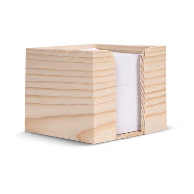 Zettelblock aus Holz, recycelt 10 x 10 x 8,5cm LT91911