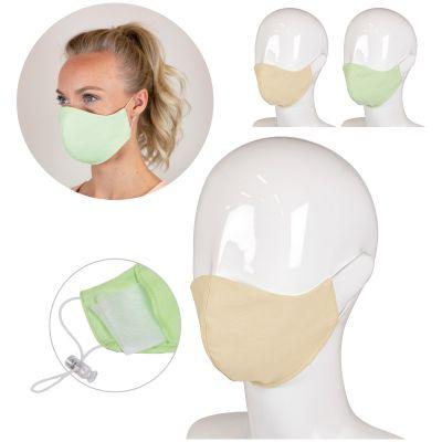 Wiederverwendbare dereilagige Gesichtsmaske aus medzinischer Baumwolle Made in Europe LT93955