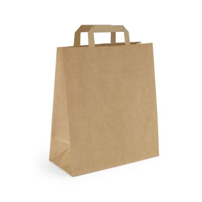 Papiertragetasche 25 x 11 x 32 cm, flacher Henkel (FH0000400)