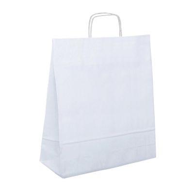Papiertragetasche 32 x 12 x 40 cm, gedrehter Henkel, weiß (FH0000200)