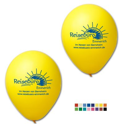 Werbeluftballon Ø 27 cm - Preis per 1.000 Stück inkl. 1/1 Siebdruck W2003 bedrucken