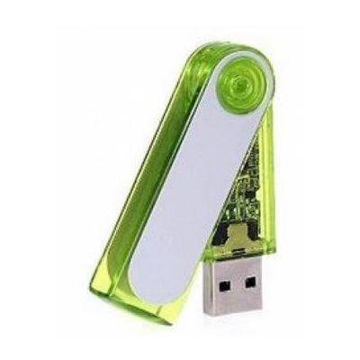 USB Stick plastic turn grün-silber WM0003232
