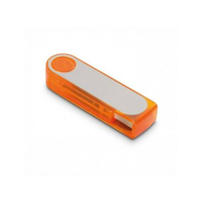 USB Stick plastic turn orange-silber WM0003235