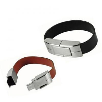 USB flash drive wristband braun