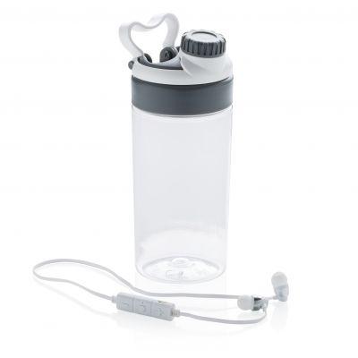 Auslaufsichere Flasche mit kabellosem Kopfhörer bedrucken