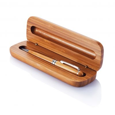 Bambus Kugelschreiber in Box bedrucken