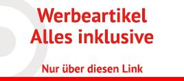 Werbeartikel zu Discount Konditionen mit Logo günstig bestellen